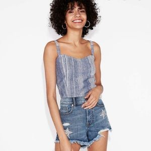 Express Extreme Level high rise Shortie Shorts 0